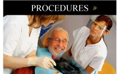 Procedures | Man in dentist chair looking at XRay